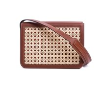 Handbag with Rattan Lid